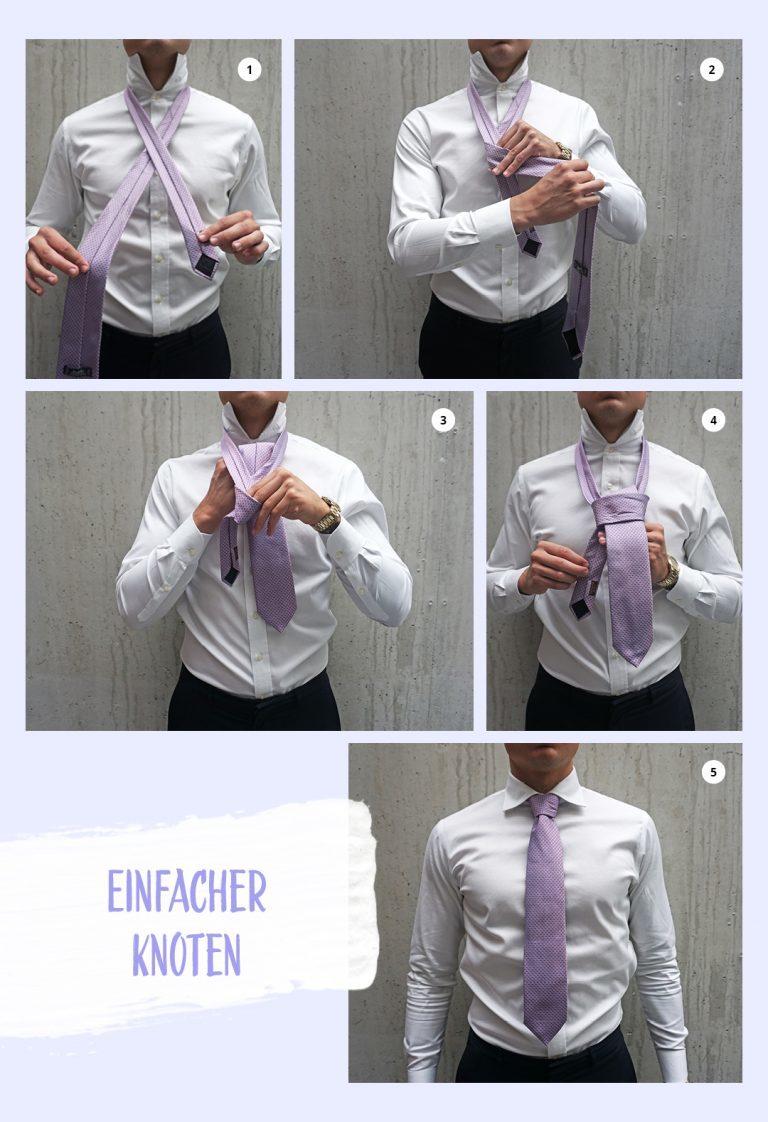 Wie bindet man eine Krawatte? Entdecke die Krawatte-Binden-Anleitung