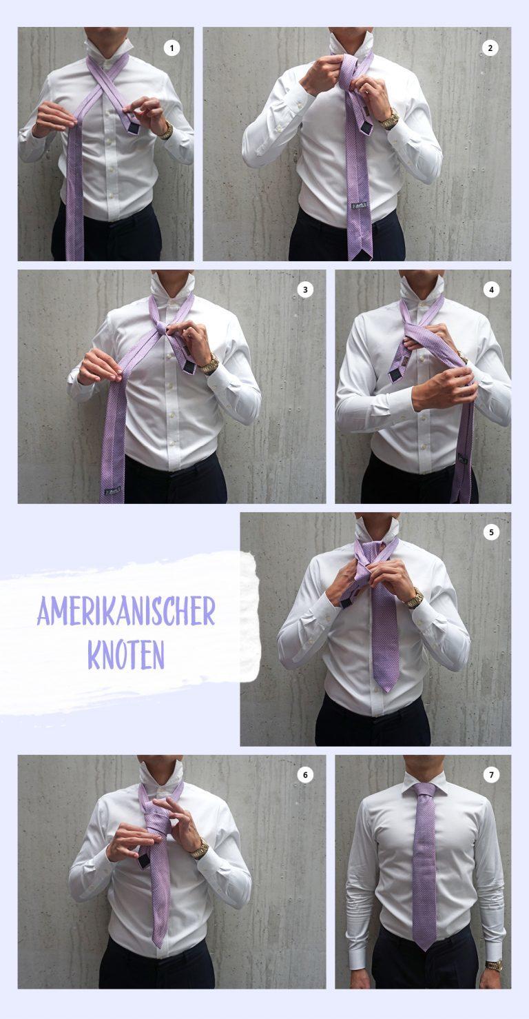 Wie bindet man eine Krawatte