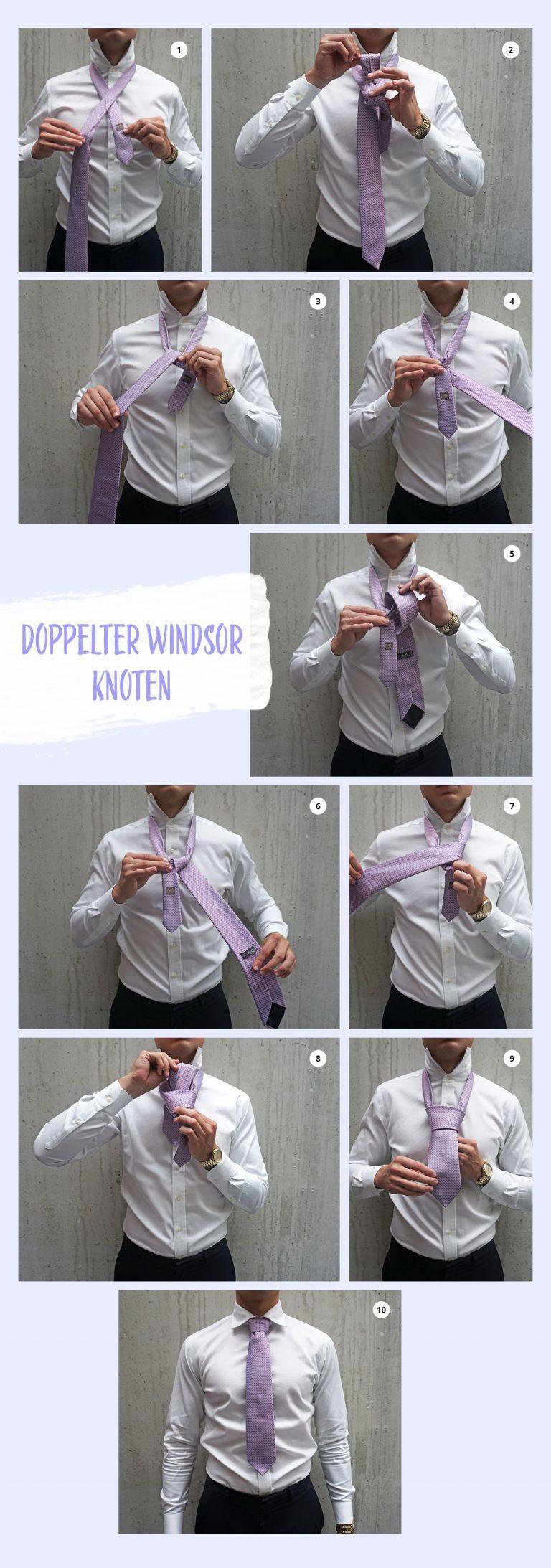 wie binde ich eine krawatte - doppelter windsor binden