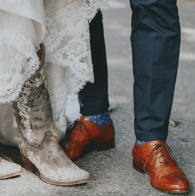 Stiefel zum Brautkleid
