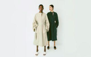 Helle und Grüne Trench-Coats