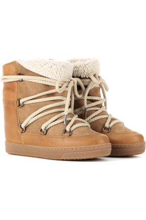 Isabel Marant Ankle Boots Nowles mit Shearling