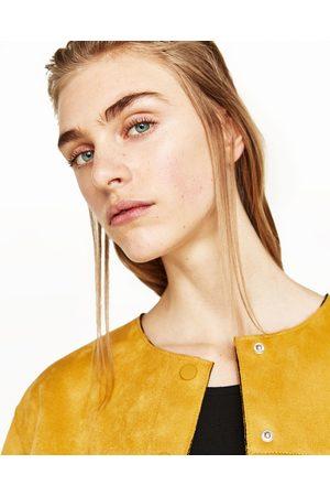 Zara jacke in wildlederoptik