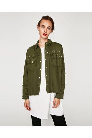 Zara jacke damen khaki
