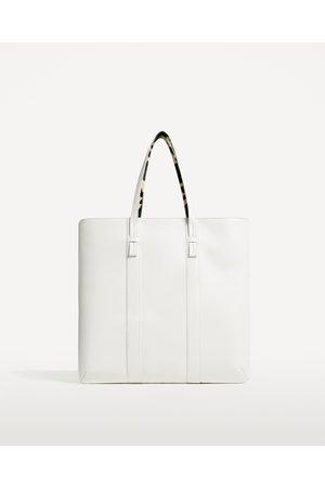 Zara Herren Shopper - WEISSER SHOPPER