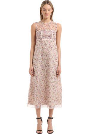 Damen Freizeitkleider - Calvin Klein SEIDENKLEID MIT BLUMENDRUCK