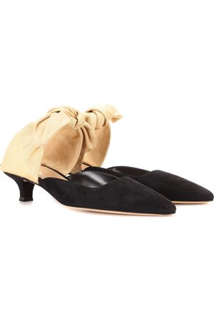 The Row Mules Coco aus Veloursleder