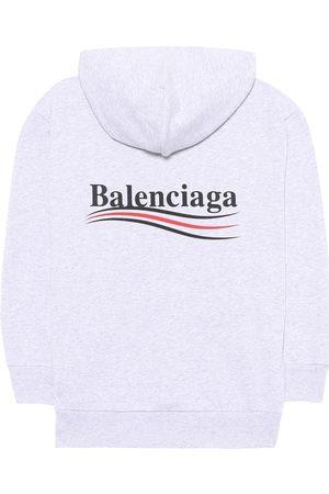 Balenciaga Kids Hoodie aus Baumwoll-Stretch