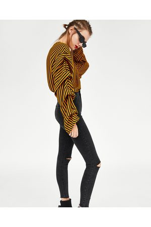 "Zara JEGGINGS HI-RISE ""SHAPER"" MIT RISS AM KNIE"