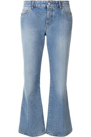 Alexander McQueen Cropped-Jeans mit ausgestelltem Bein