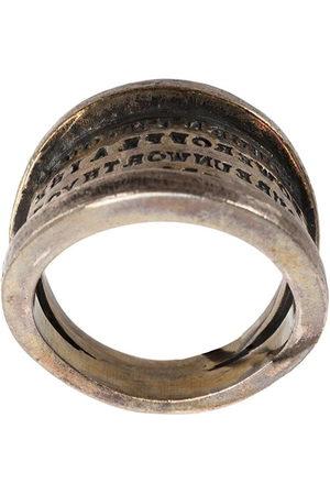 TOBIAS WISTISEN Script Plate' Silberring - Metallisch