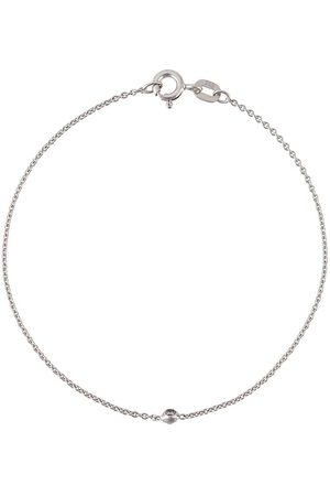 WOUTERS & HENDRIX 18kt Weißgoldarmkette mit Diamant - Metallisch