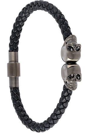 NORTHSKULL Armband mit versilberten Totenkopf-Anhängern