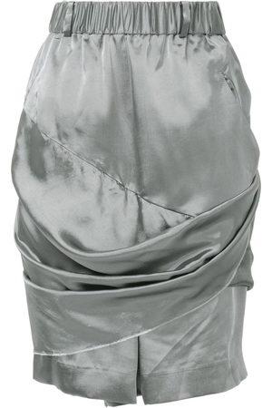 MOOHONG Drapierte Shorts - Metallisch