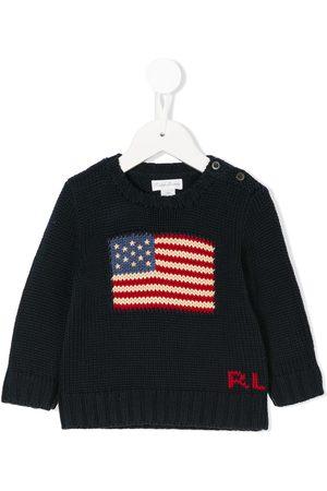 Ralph Lauren Strickpullover - Intarsien-Pullover mit USA-Flagge