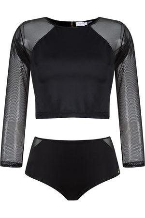 Brigitte Damen Hosen & Jeans - Cropped top and hot pants set