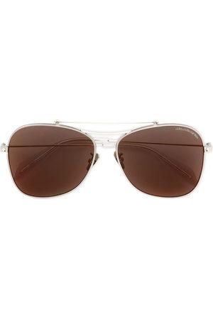 Alexander McQueen Piercing Shield' Sonnenbrille - Metallisch