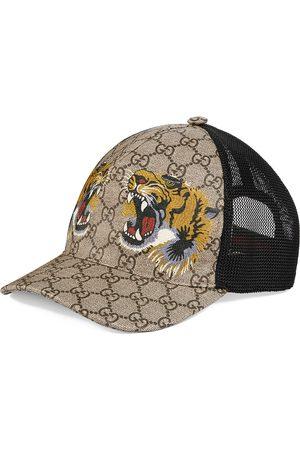 Gucci GG Supreme Baseballkappe mit Tiger-Print - Nude