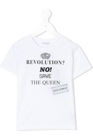 Dolce & Gabbana Jungen Shirts - T-Shirt mit Logo-Print