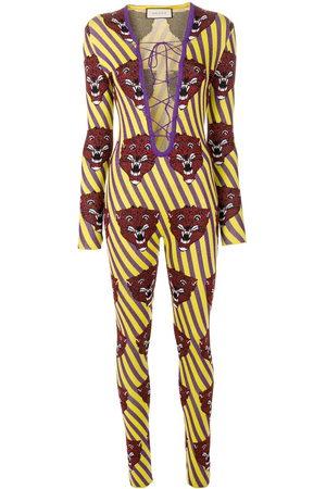 """Gucci Damen Jumpsuits - Jumpsuit mit """"Tiger-Gesicht"""" - Mehrfarbig"""