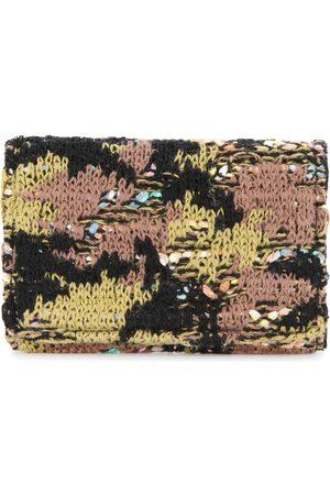 Coohem Tweed-Kartenetui mit Camouflage-Muster