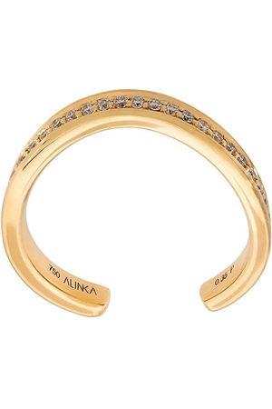 ALINKA 18kt 'TANIA' Gelbgoldring mit Diamanten - Metallisch