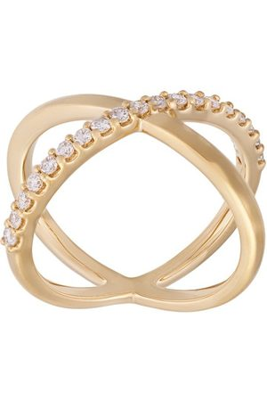 ALINKA 18kt 'Katia' Gelbgoldring mit Diamanten - Metallisch
