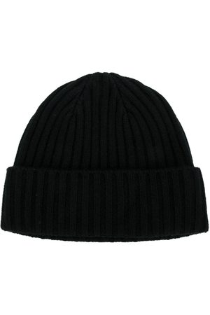 N.PEAL Herren Hüte - Gerippte Strick-Beanie aus Kaschmir