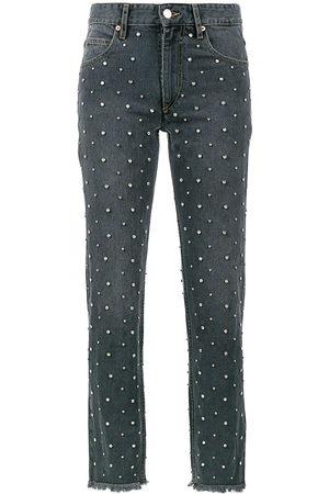 Isabel Marant Damen Straight - Ulano' Jeans mit Swarovski-Kristallen