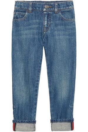 Gucci Gerade Jeans mit Webstreifen