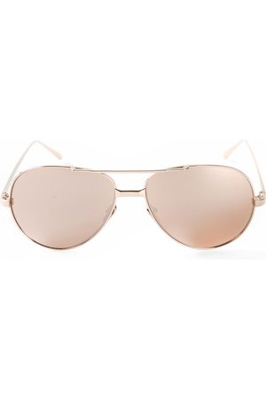 Linda Farrow 128' Sonnenbrille aus 22kt Gold - Nude