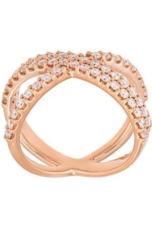 ALINKA 18kt 'Katia' Rotgoldring mit Diamanten - Metallisch