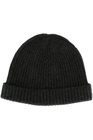 N.PEAL Herren Hüte - Gerippte Kaschmirmütze