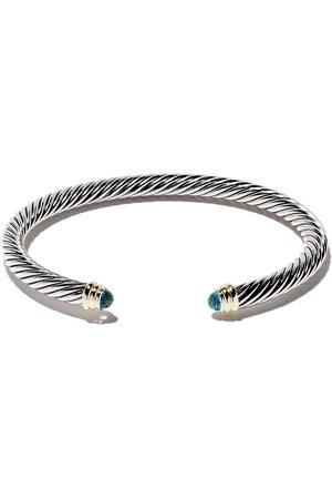 David Yurman Cable' Armspange aus Sterlingsilber mit Topaz - S4abt