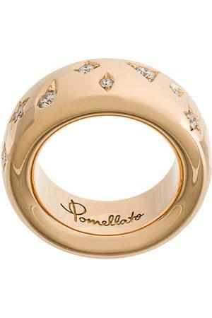 Pomellato 18kt 'Iconica' Rotgoldring mit Diamanten - Metallisch