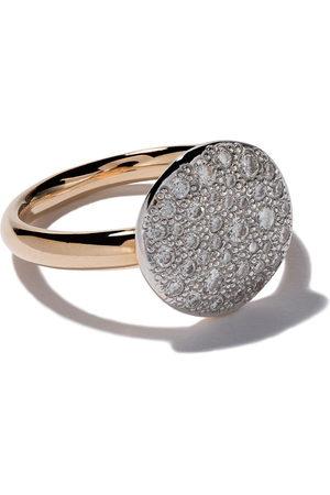 Pomellato 18kt 'Sabbia' Rotgoldring mit Diamanten - WHITE