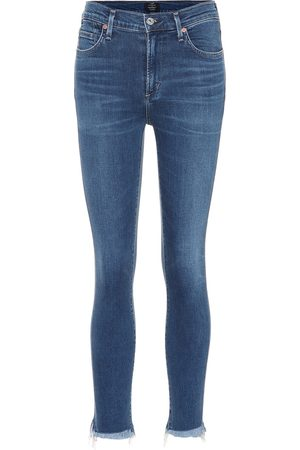 Citizens of Humanity Damen High Waisted - High-Rise Skinny Jeans Rocket Crop