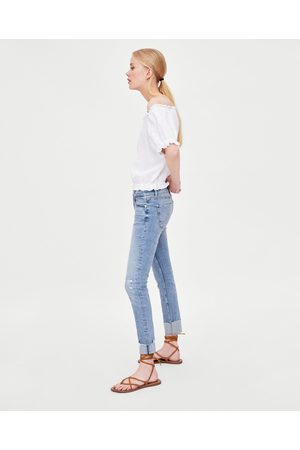 "Zara JEANS LOW RISE ""DISTRESSED"""
