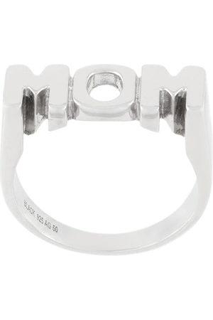Maria Black Rhodinierter 'Mom' Ring aus Sterlingsilber - Metallisch