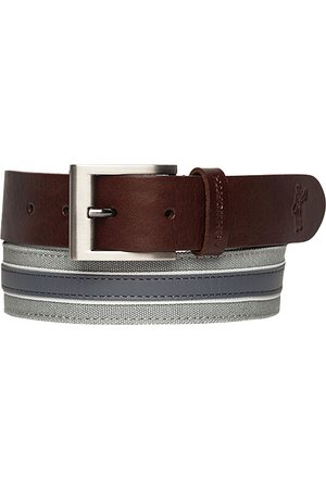 Herren Gürtel - Ashworth Leather Cotton Belt medium grey Z99398