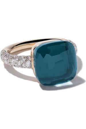 Pomellato 18kt 'Nudo' Rot- und Weißgoldring mit Topas und Diamanten - BLUE