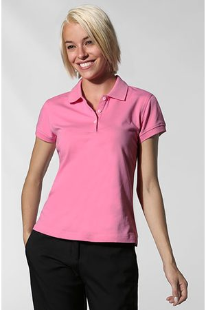 Damen Poloshirts - Adidas Damen Polo ClimaLite peony Polo-Shirt aus Cotton Stretch mit ClimaLight® Funktion