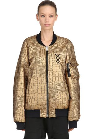 NICOLÒ TONETTO MILANO FLUX EMBOSSED FAUX LEATHER BOMBER