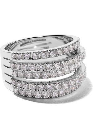 De Beers 18kt 'Five Line' Weißgoldring mit Diamanten - Unavailable
