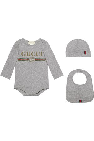 Gucci Baby Outfit Sets - Baby Gucci logo cotton gift set