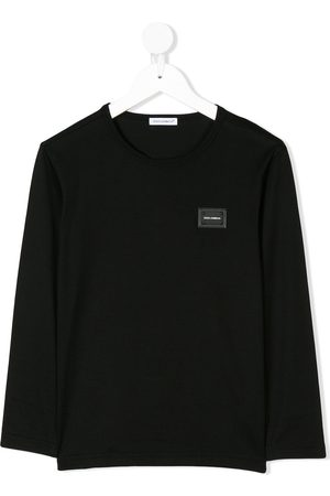 Dolce & Gabbana Logo plaque long sleeve top