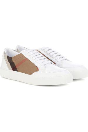 Burberry Sneakers House Check aus Leder