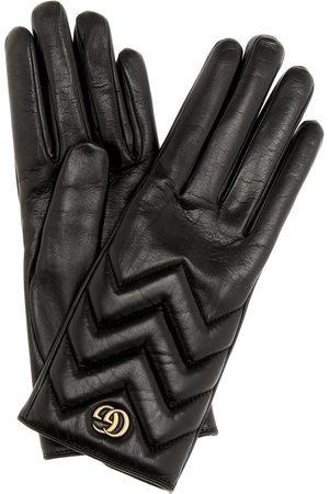 Gucci Damen Handschuhe - Handschuhe GG Marmont aus Leder