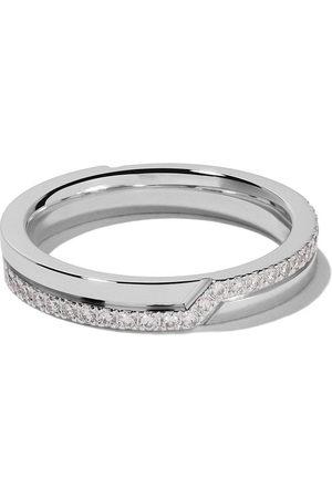 De Beers Damen Ringe - 18kt Weißgoldring mit Diamanten - White