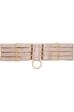 BORDELLE Allegra strap garters - Nude